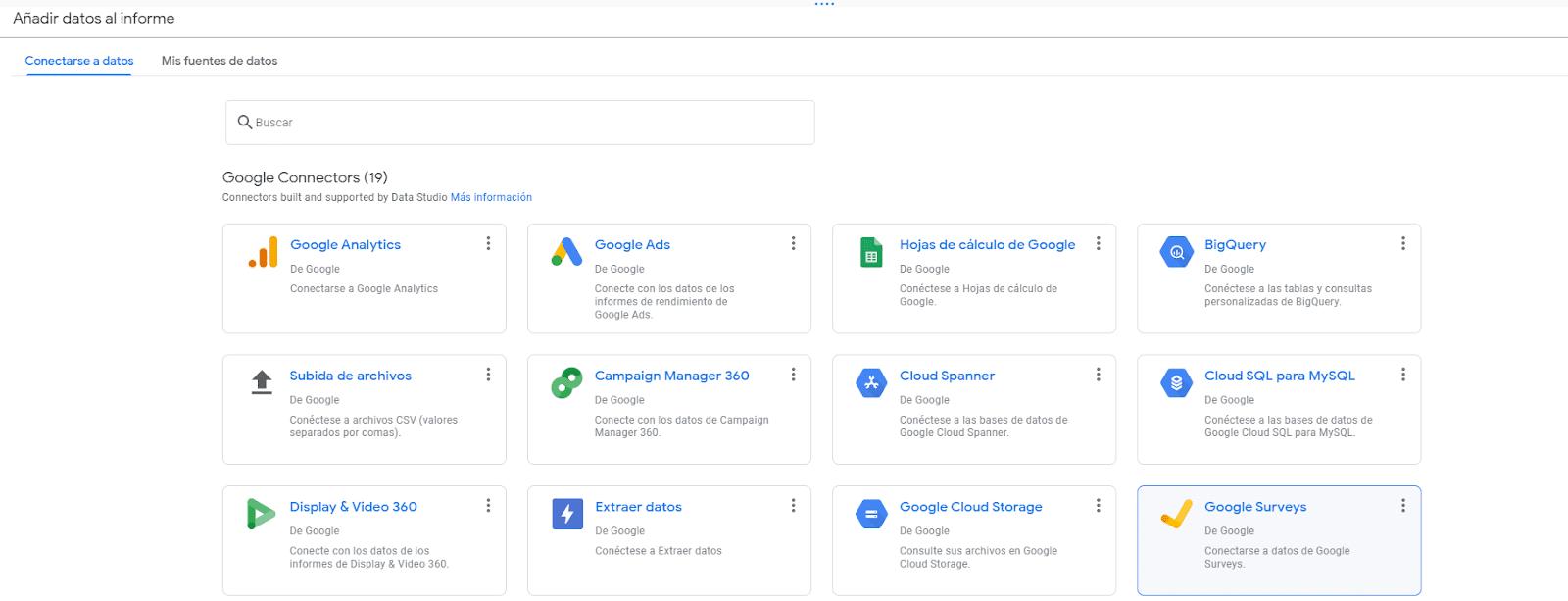 Conectores Google Data Studio