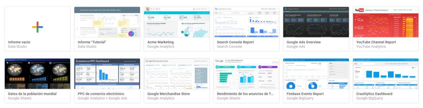 Crear Google Data Studio