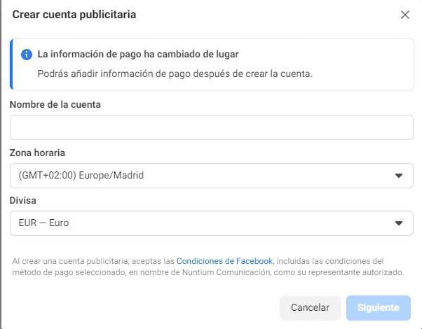 Crear Cuenta Publicitaria De Facebook