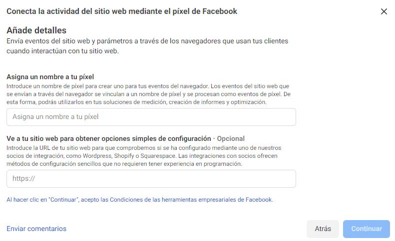 Pixel Facebook Crear